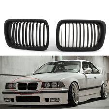 Hot Black Front Bumper Hood Kidney Grilles For BMW 97-99 E36 3-Series M3 Sedan