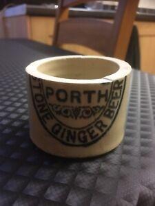 Porth Stone Ginger Beer Bottle Candle Holder