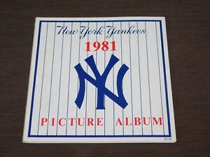 VINTAGE  BASEBALL 1981 NEW YORK YANKEES PICTURE ALBUM