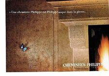 PUBLICITE ADVERTISING 037  1988  Cheminées Philippe (2p)