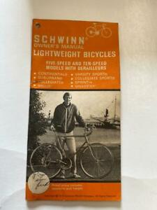 1975 Schwinn LIGHTWEIGHT Bicycle OWNERS MANUAL