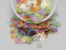 2000 Mixed Color Hollow Flower loose sequins Paillettes 9mm sewing Wedding craft