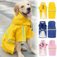 Dog Raincoat Waterproof Outdoor pet Doggie Rain Coat Rainwear Clothes USA STOCK