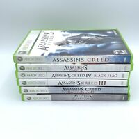 XBox 360 Assassin's Creed Lot Of 6 Games Black Flag Brotherhood Revelations