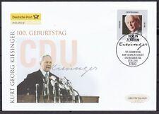 BRD 2004 Deutsche Post FDC MiNr. 2396  100. Geburtstag von Kurt Georg Kiesinger