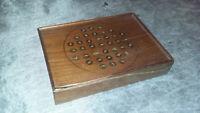Ancien petit coffret jeux de voyage acajou -vers 1850 - osselets jonchet domino