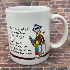 Hallmark Shoebox Greetings Maxine Coffee Mug Cup Blamed on Somebody Else Wagner