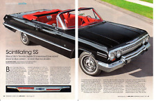 1963 CHEVROLET IMPALA SS CONVERTIBLE 230 ~ NICE 6-PAGE RESTORATION ARTICLE / AD