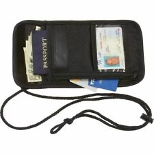 TRAVEL POUCH NECK STRAP BAG ZIPPERED POCKET FOR DOCUMENTS NEW