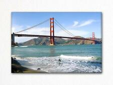 San Francisco Golden Gate Bridge and Surfer Fridge Magnet