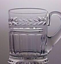 STUART CRYSTAL 'H.G.C' LABELLED LOVELY CUT GLASS BEER MUG TANKARD