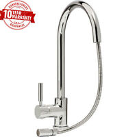 Kitchen Sink Mixer Tap Monobloc Pull Out Hose Single Side Lever Modern Chrome