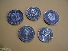 LOT OF 5 BULGARIAN 5 LEVA COIN DIFERENT YEARS