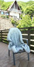 White +Blalck Tip Faux Fur Sheepskin Soft Area Rugs Room Balcony Home Carpets