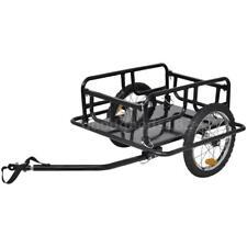 Folding Bike Bicycle Cargo/Dog/Cat/Pet Trailer Steel 50 kg Capacity Black D0E3
