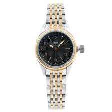 Oris Gran Corona Puntero Fecha Automático Negro Dial Acero para Dama Reloj 594