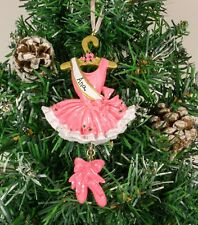 Personalised Christmas Tree Ornament Decoration - Pink Ballerina