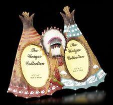 L'OUEST SAUVAGE Cadre d'image - Deux INDIEN tipis - WILD WEST COWBOY Cadre photo