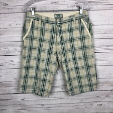 Horny Toad Womens Plaid Bermuda Shorts Size 4 Blue Green Tan Orange