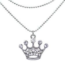 Charm Foot Anklet Ankle Bracelet Clear Crystal Princess Queen Tiara Crown