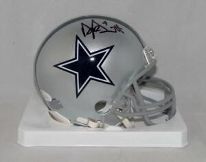 Dak Prescott Autographed Dallas Cowboys Mini Helmet- JSA W Auth *Black