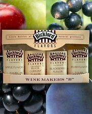 """Wine Makers """"B"""" Collection 4 Flavor Concentrate Pack from Bickford #5020 NEW"""