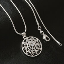 Women & Men Fashion 925 Sterling Silver Plated Pendant Necklace Chain Jewelry
