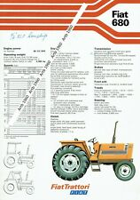 Fiat 680 tractor 2 sided A4 leaflet /Brochure 1979? (Fiat Agria?)