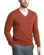 6de6c7dfed2 Bloomingdales Mens 2-Ply Cashmere V-Neck Sweater X-Large XL Cinnamon  Knitwear