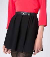 NEW Maje Gambie Black Wool Mini Skirt size 34 NWT
