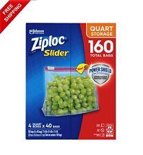 New listing Ziploc Storage Slider Quart Bags (160 ct. (Free Shipping)