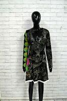 Vestito Tubino Donna DESIGUAL Taglia XL Abito Nero Cotone Dress Woman Black