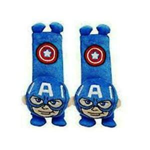 2 x NEW Captain America Safety Car Seat Belt Shoulder Harness Cushion Pad Case