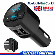 Bluetooth Car Kit Radio Adapter Handsfree FM Transmitter for iPhone Samsung