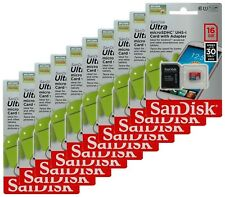 SanDisk Ultra Class10 16GB microSD micro SDHC UHS-I U1 Flash Memory Card Lot10