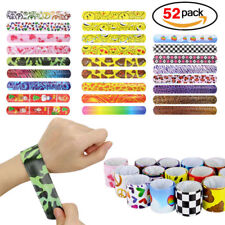 Silicone Slap Bracelet for Boys & Girls Birthday Party Supplies Favors (52 Pack)