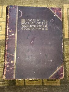 Antique Descriptive Atlas of the world & general geography 1893 - Over 100 Maps