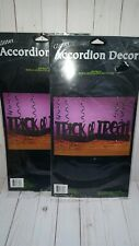 2 packages of Halloween cardboard Glitter accordion decor Trick or Treat