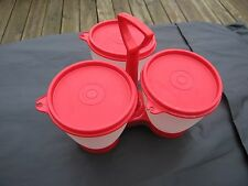 Tupperware Condiment Caddy red/sheer