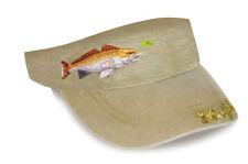 "Flying Fisherman ""Redfish"" Chasing Lure Design Visor New"