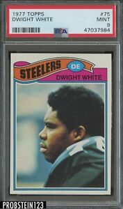 1977 Topps #75 Dwight White Pittsburgh Steelers PSA 9 MINT