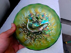 Millersburg Green Trout & Fly Ice Cream Shape Bowl - Take Another Look