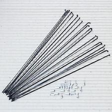 20 Stück DT SWISS Messerspeiche Aerolite 2.0/0.9 x 288 mm schwarz Alu Nippel