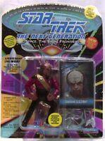 "1993 Playmates Star Trek The next Generation Worf in red ""JG"" uniform!"
