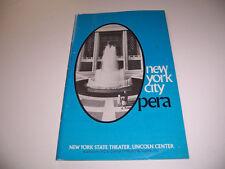 1976 LINCOLN CENTER THEATRE PLAYBILL & TICKET - LA TRAVIATA - NISKA WALKER YULE