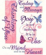 Miss Elizabeth Vellum stickers - Thinking of you,1 sheet.