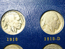 """1918-P/D/S & 1919-P/D/S Buffalo Nickels           """"6 coin Lot""""               (3)"""