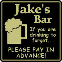 New Personalized Drinking To Forget Bar Beer Pub Gift Sign #6 Custom USA Made