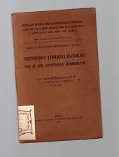 codinsthitutionis theologiae pastoralis usui ff. min.cxappuccinum accomodatae