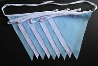 Handmade Tea Party Bunting 10ft/3m Lots Of Colours To Choose From 9 Fabric Flags